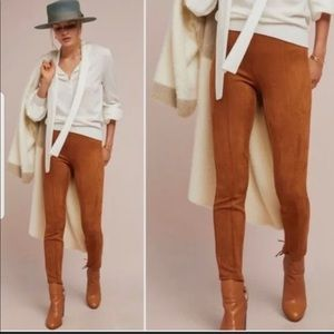 Anthropologie Faux Suede Pants Size 32
